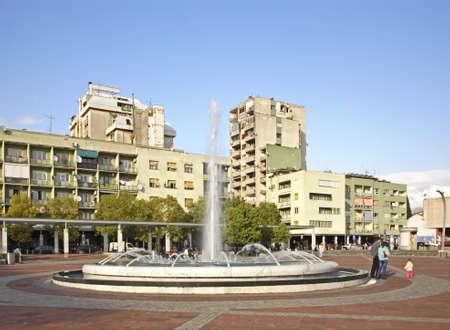 Republic Square in Podgorica. Montenegro Standard-Bild