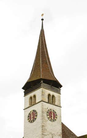 interlaken: Protestant church in Interlaken. Switzerland