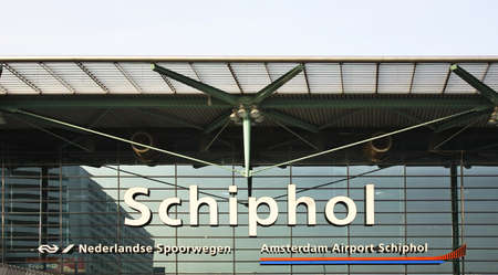Amsterdam Airport Schiphol. Netherlands Editorial