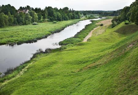 musa: Musa river in Bauska. Latvia Stock Photo