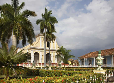 mayor: Plaza Mayor in Trinidad. Cuba Stock Photo
