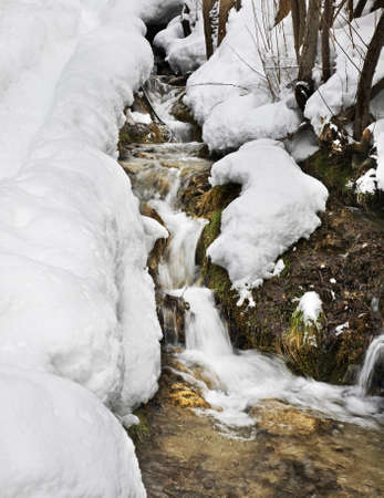 principality: Stream in Sornas. Principality of Andorra Stock Photo