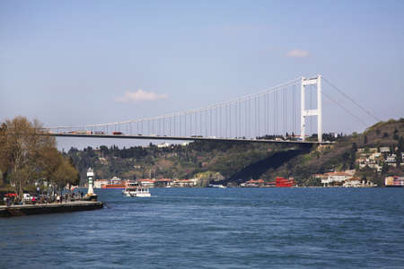 mehmet: Fatih Sultan Mehmet Bridge in Istanbul. Turkey