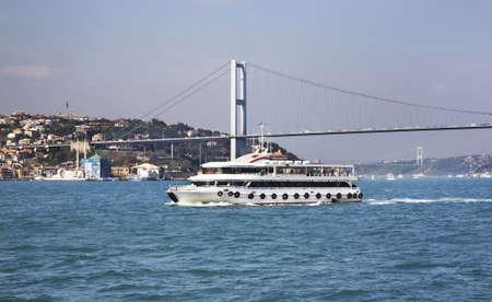 strait: Bosphorus strait in Istanbul. Turkey Stock Photo