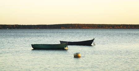 dawning: Turawskie Lake. Poland