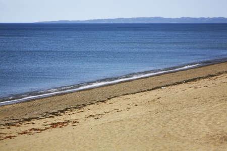 far east: Sea of Okhotsk. Peninsula Puzin. Sakhalin. Far East. Russia