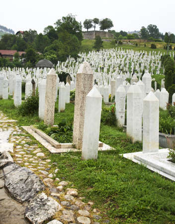 herzegovina: Cemetery in Sarajevo. Bosnia and Herzegovina
