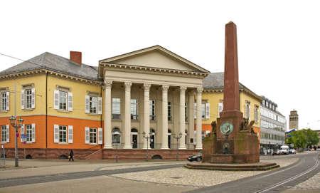 karlsruhe: Rondellplatz square in Karlsruhe. Germany Editorial