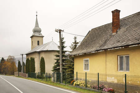 michael the archangel: Church of St. Michael Archangel in Ruska Vola nad Popradom. Slovakia Stock Photo