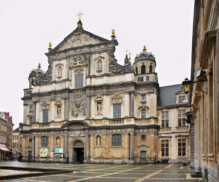 st charles: St. Charles Borromeo Church in Antwerp. Belgium Stock Photo
