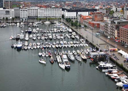 antwerp: Willemdok in Antwerp. Belgium
