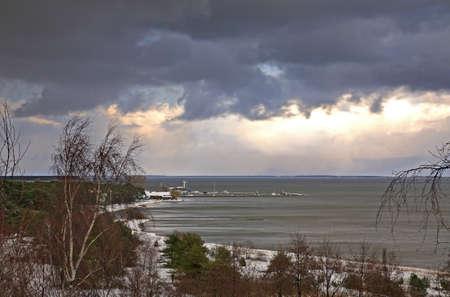 seaboard: Port in Nida. Lithuania