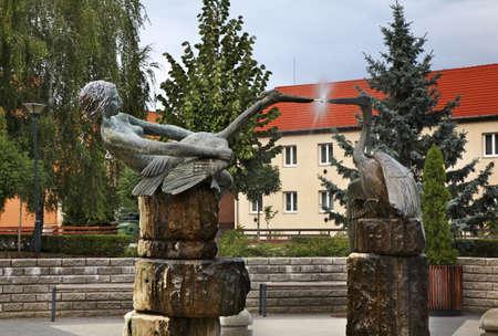 statuary: Fountain in Zahony. Hungary