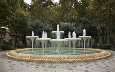 baku: Fountain in Baku. Azerbaijan Stock Photo