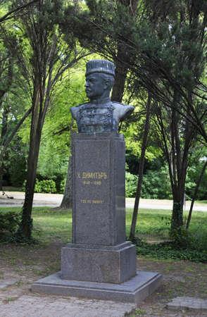 statuary garden: Monument to Hadzhi Dimitar in Varna. Bulgaria Editorial