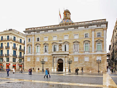 generalitat: Palau de la Generalitat in Barcelona. Spain Editorial
