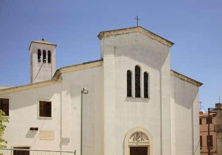 ヌーオロのロザリオ教会。サルデーニャ。イタリア 写真素材 - 37746157