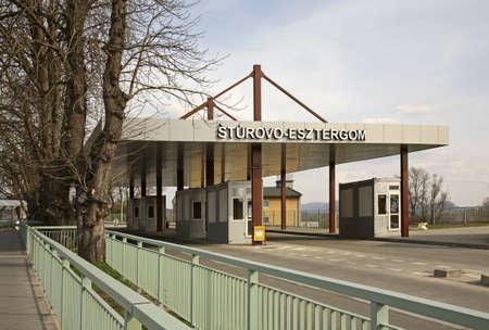 slovakia: Border point in Sturovo. Slovakia Stock Photo