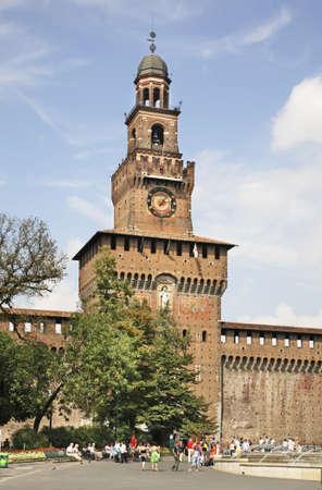 sforza: Torre del Filarete of the Sforza Castle in Milan. Lombardy. Italy