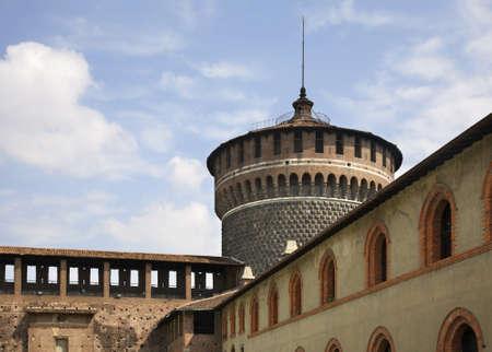 sforza: Sforza Castle in Milan. Lombardy. Italy