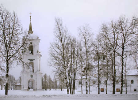 belfry: Cathedral hill in Kargopol. Belfry. Russia