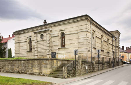 former: Former synagogue in Nowy Sacz. Poland Stock Photo