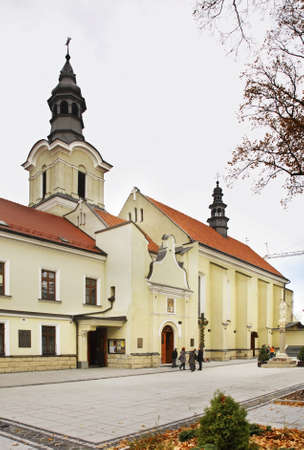 jesuit: Church of the Holy Spirit and Jesuit monastery in Nowy Sacz. Poland