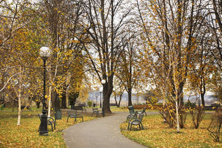 polska: Park in Nowy Sacz. Poland Stock Photo