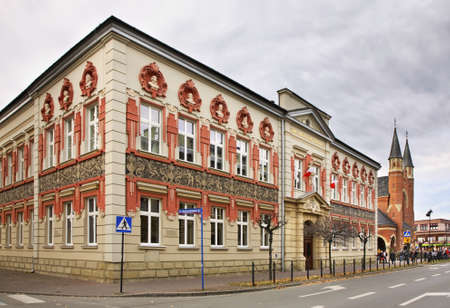 cz: Building in Nowy Sacz. Poland