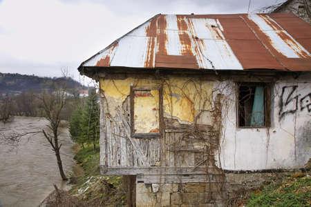 herzegovina: Abandoned house in Jajce. Bosnia and Herzegovina Stock Photo