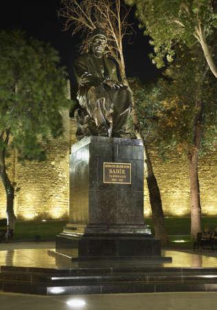 baku: Monument  to Sabir in Baku. Azerbaijan