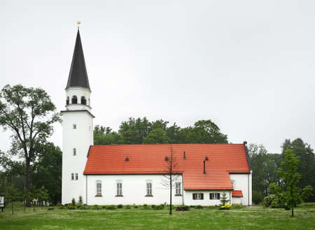 sigulda: Lutheran Church in Sigulda. Latvia Stock Photo