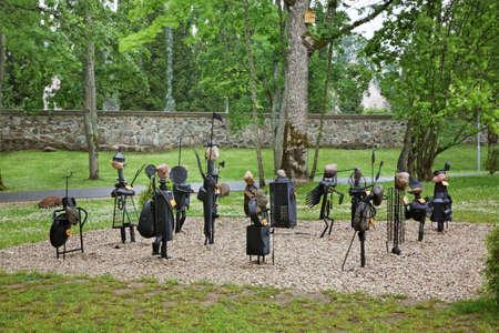 sigulda: Parque en Sigulda. Letonia Foto de archivo