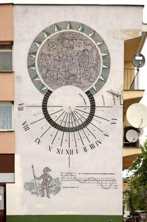 reloj de sol: Reloj de sol en Wlodawa. Polonia