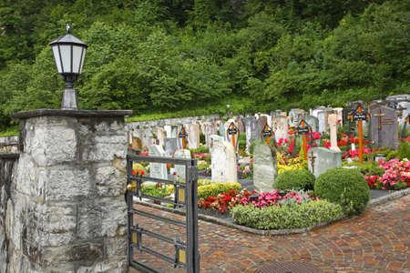 liechtenstein: Cemetery in Vaduz. Principality of Liechtenstein