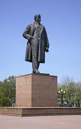 lenin: Lenin square in Yuzhno-Sakhalinsk. Sakhalin island. Russia