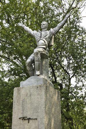 sakhalin: Monument to Gagarin in Gagarin  park.  Yuzhno-Sakhalinsk. Sakhalin island. Russia