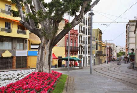 spanish homes: Street in Santa Cruz de Tenerife. Canary Islands. Spain