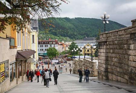 parish: Parish stairs in Zilina. Slovakia Editorial