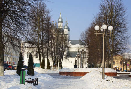 belarus: Park in Slonim. Belarus