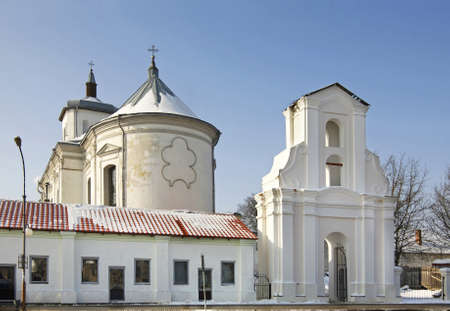 immaculate: Bernardine Church of the Immaculate Conception in Slonim. Belarus Stock Photo
