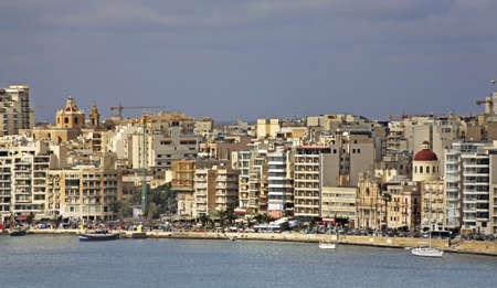 embankment: Embankment in Sliema (Tas-Sliema). Malta island