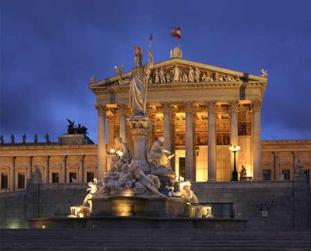 austrian: Austrian Parliament Building in Vienna. Austria