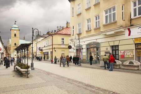 constituci�n pol�tica: Constituci�n de mayo, calle 3 en Rzeszow. Polonia Editorial
