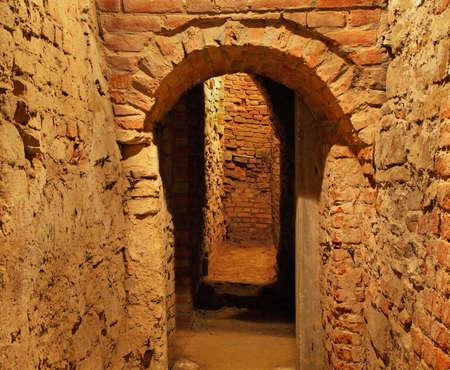 basement: Old basement in Rzeszow. Poland Editorial