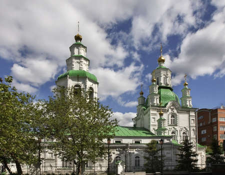 intercession: Intercession Cathedral in Krasnoyarsk. Russia