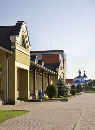 Main street in Ashmyany. Belarus