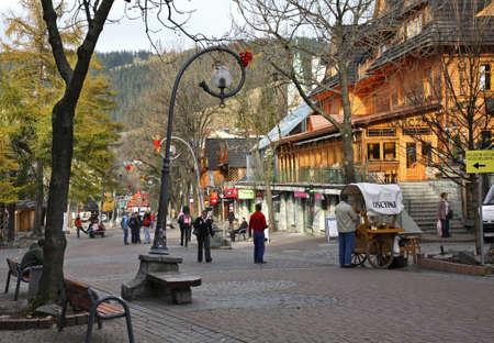 oscypek: Krupowki street in Zakopane. Poland