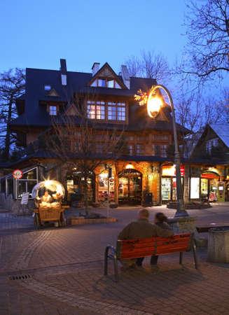zakopane: Krupowki street in Zakopane. Poland