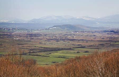 selo: landscape near Licko Petrovo Selo. Croatia